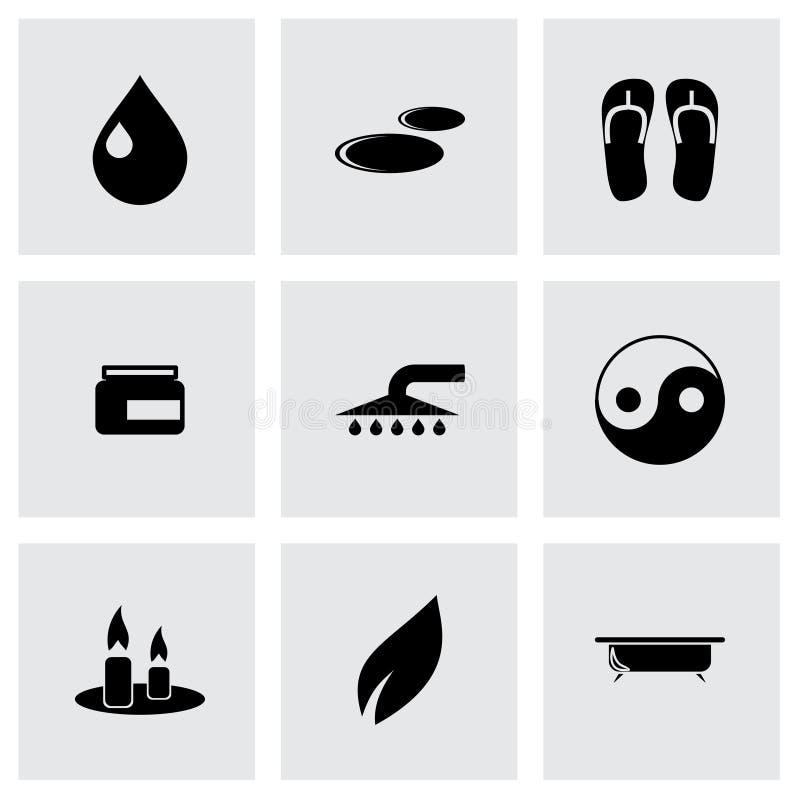 Grupo do ícone dos termas do vetor ilustração royalty free