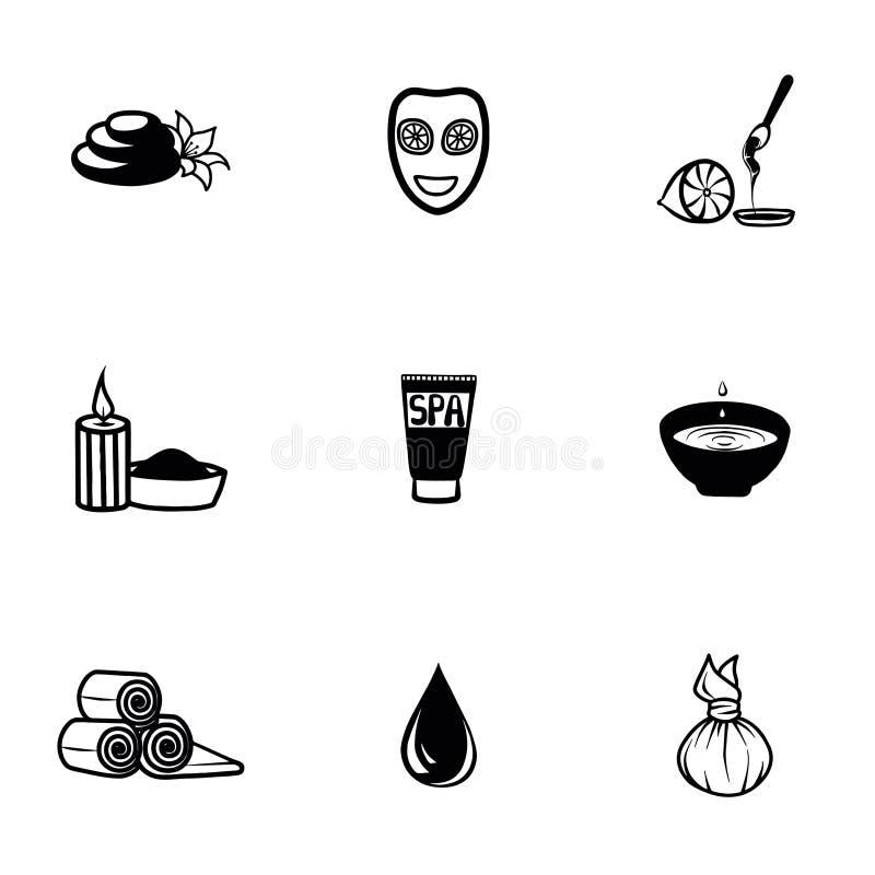 Grupo do ícone dos termas do vetor ilustração stock