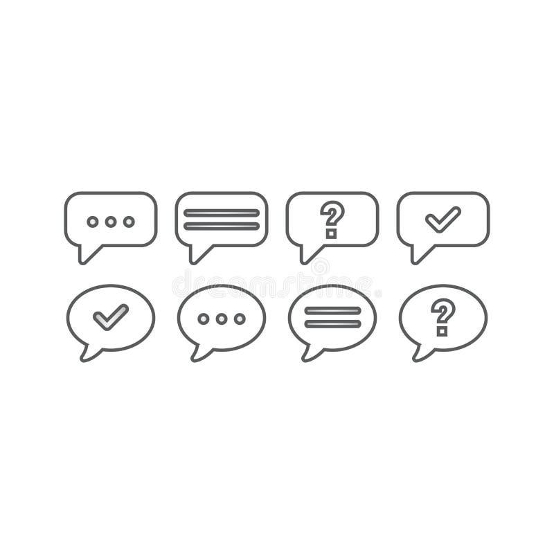 Grupo do ícone - mensagens e bate-papo ilustração stock