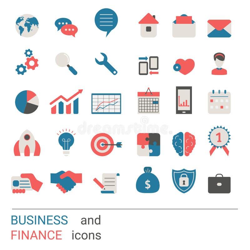 Grupo do ícone do negócio ilustração stock