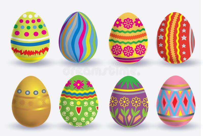 Grupo do ícone do ovo da páscoa imagem de stock royalty free