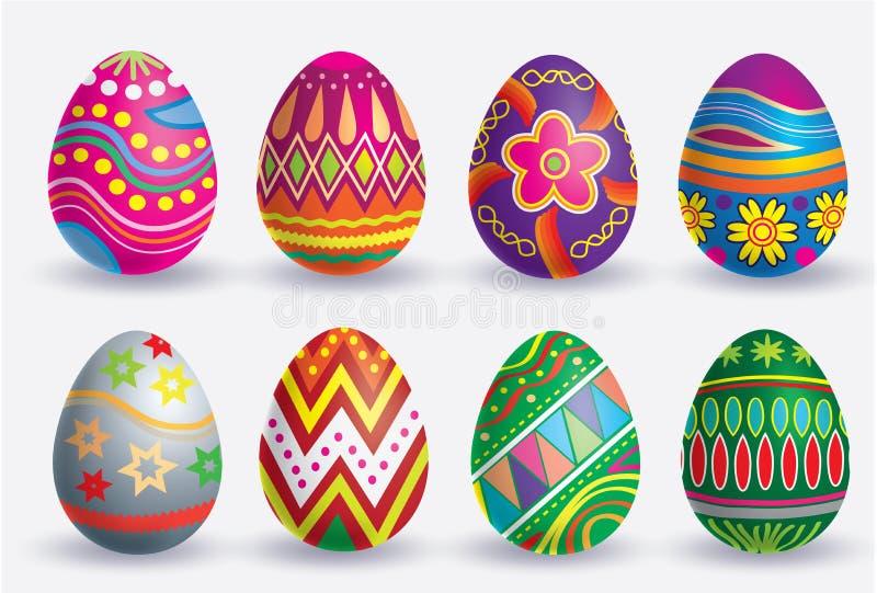 Grupo do ícone do ovo da páscoa foto de stock
