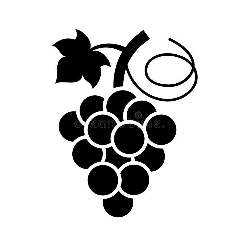 Grupo do ícone do vetor das uvas ilustração do vetor