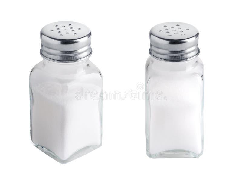 Grupo do abanador de sal isolado no branco imagens de stock royalty free