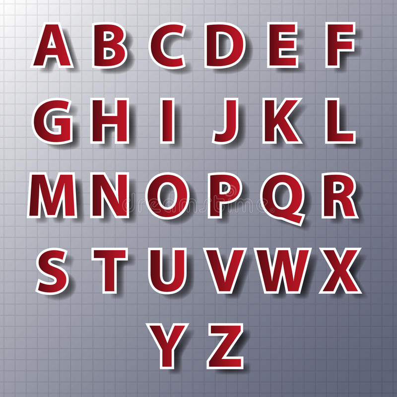 Grupo do alfabeto do vetor, papel, etiquetas, etiquetas, etiquetas Vetora/EPS10 ilustração stock