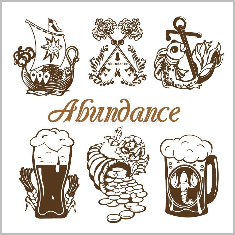 Grupo do alimento da abundância ilustração do vetor