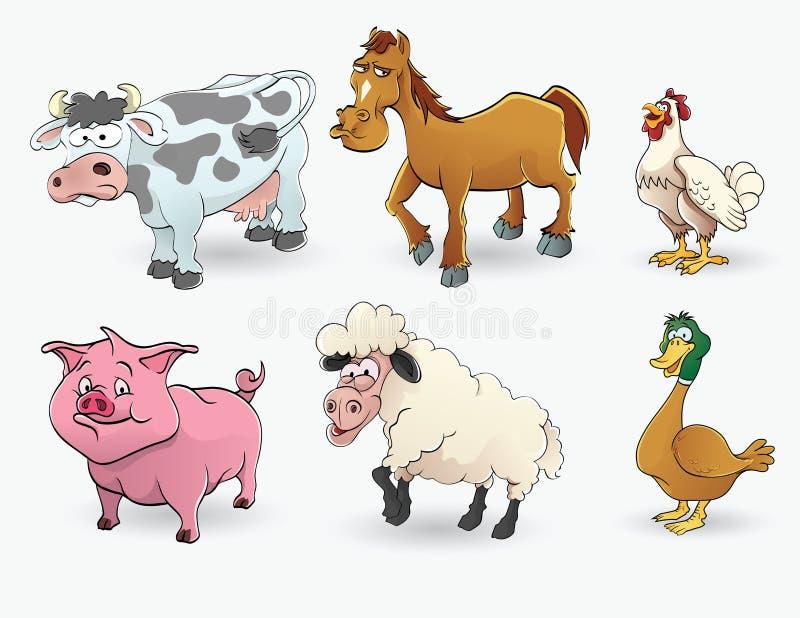 Grupo do animal de exploração agrícola ilustração stock