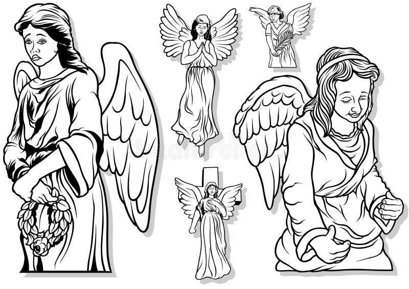 Grupo do anjo ilustração royalty free