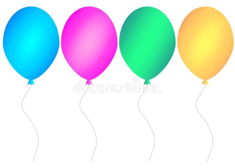 Grupo do balão da Web Ilustra??o do vetor ilustração stock