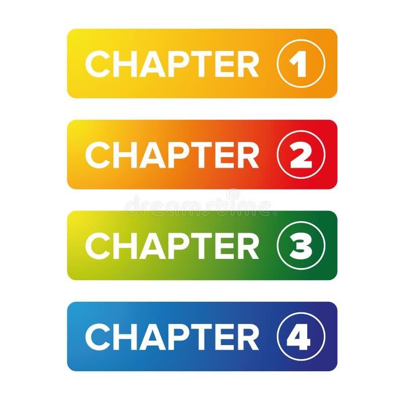 Grupo do botão do marcador do capítulo ilustração royalty free