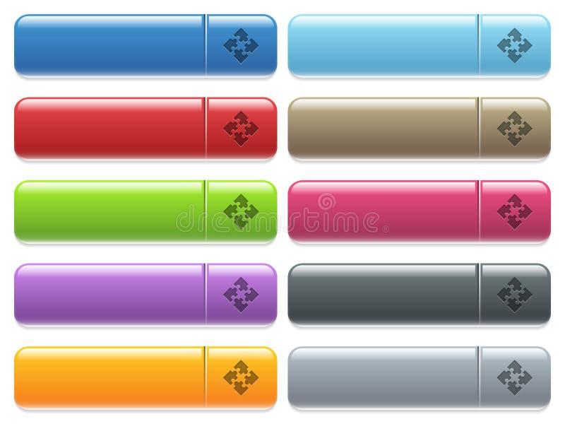 Grupo do botão do menu dos módulos ilustração stock