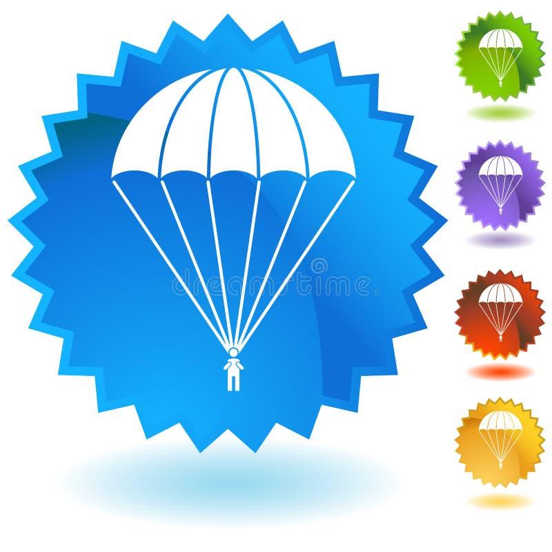 Grupo do botão do paramilitar do paraquedas ilustração stock