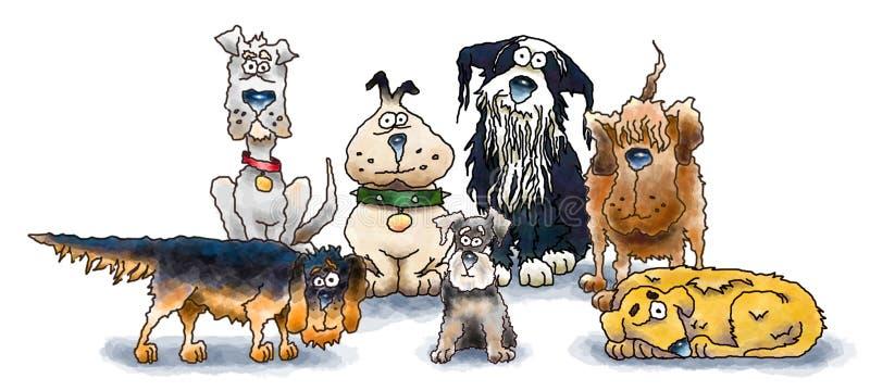 Grupo do cão ilustração do vetor