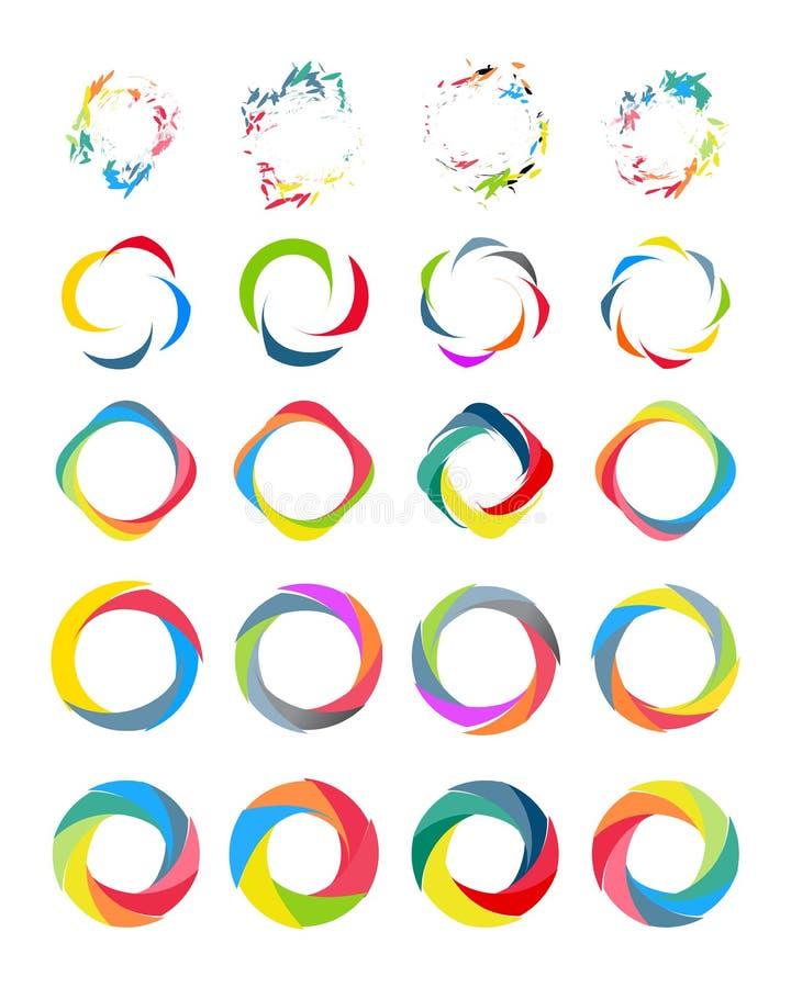Grupo do círculo de cor ilustração stock