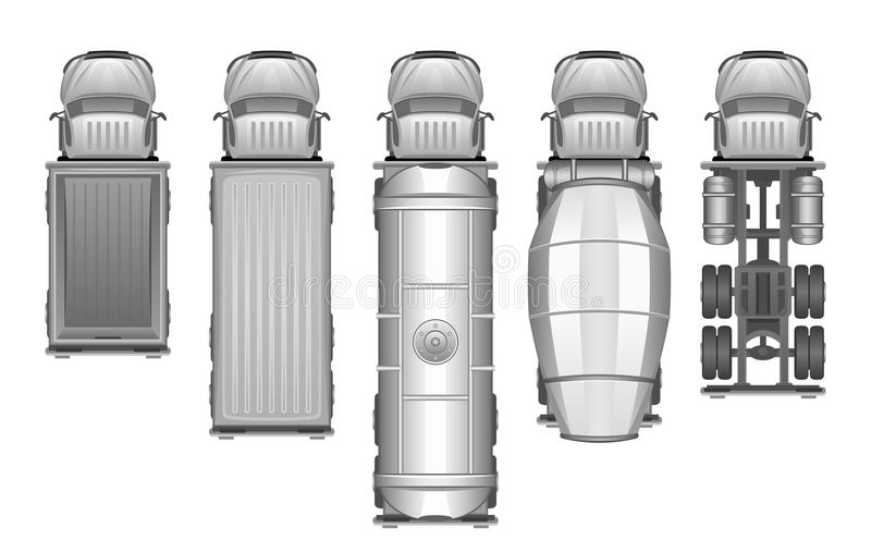Grupo do caminhão ilustração do vetor