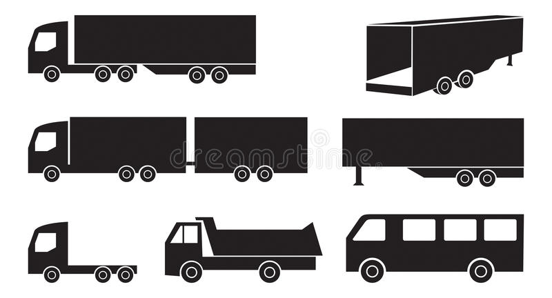 Grupo do caminhão imagens de stock