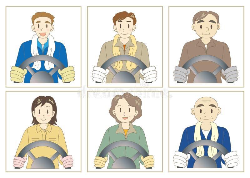 Grupo do camionista ilustração royalty free