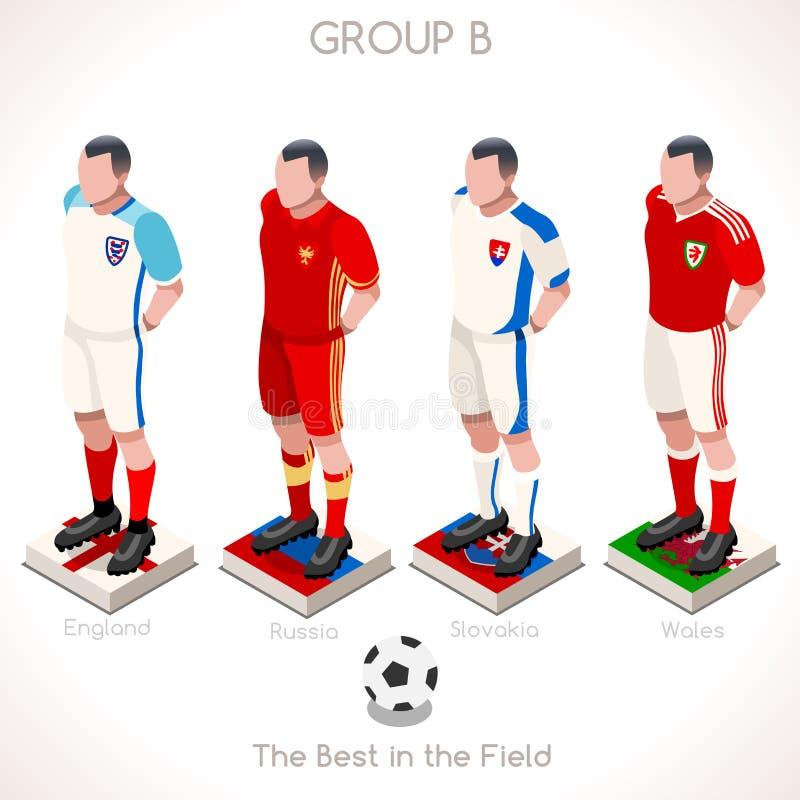 GRUPO 2016 do campeonato do EURO B ilustração do vetor