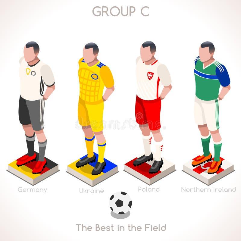 GRUPO 2016 do campeonato do EURO C ilustração royalty free