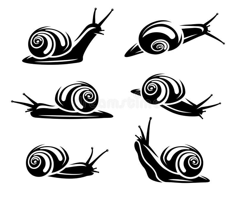 Grupo do caracol Vetor ilustração do vetor