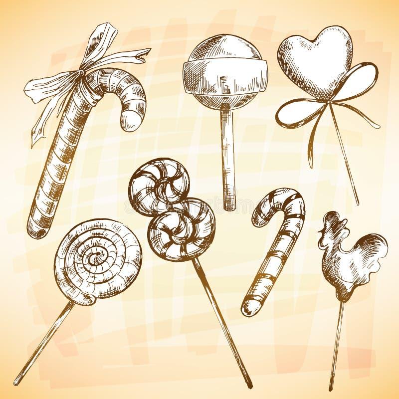 Grupo do caramelo ilustração royalty free