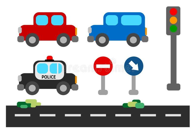 Grupo do carro do tráfego ilustração stock