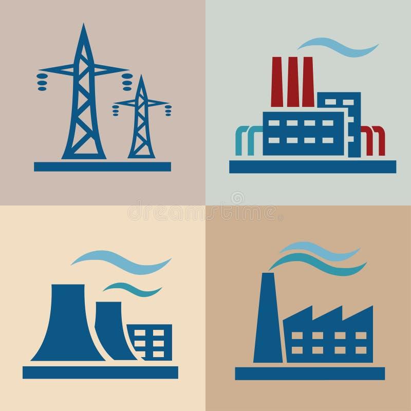 Grupo do central elétrica ilustração do vetor