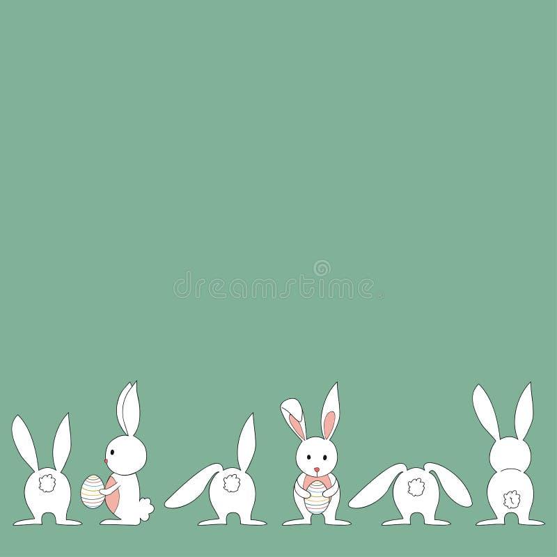 Grupo do coelhinho da Páscoa do bebê ilustração royalty free