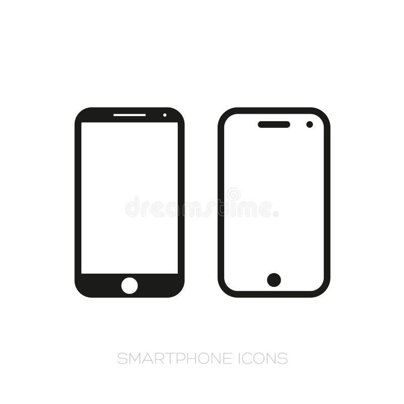 Grupo do ?cone de Smartphone ilustração royalty free