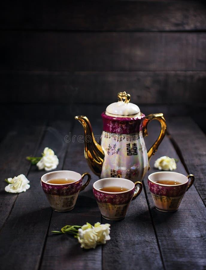 Grupo do copo de chá foto de stock royalty free