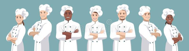 Grupo 2 do cozinheiro chefe ilustração royalty free