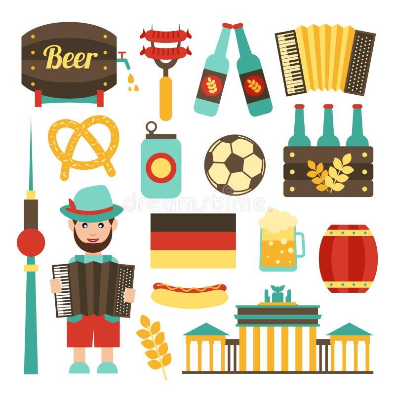 Grupo do curso de Alemanha ilustração do vetor