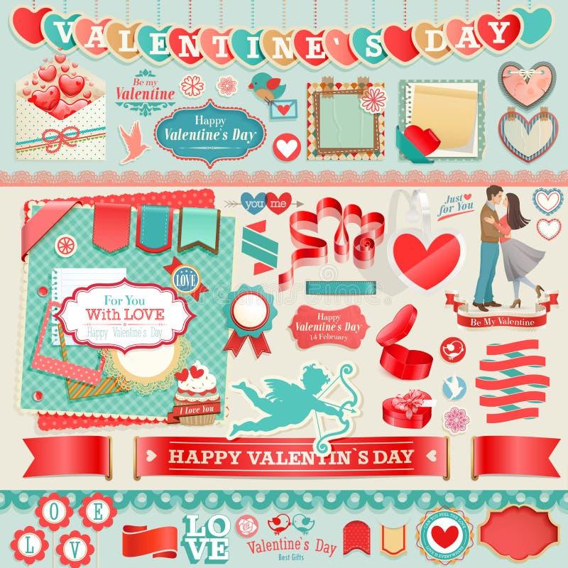 Grupo do dia do ` s do Valentim ilustração royalty free