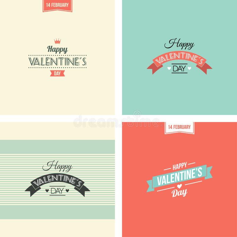 Grupo do dia do ` s do Valentim de símbolos ilustração stock