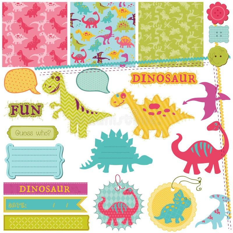 Grupo do dinossauro do bebê ilustração stock