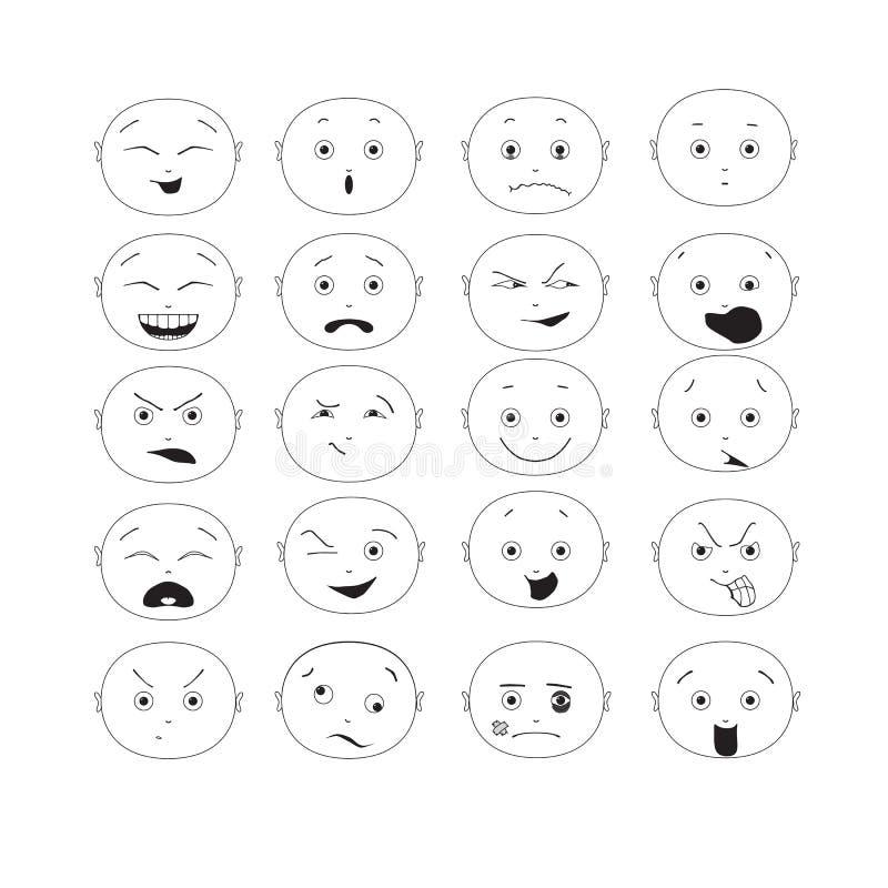 Grupo do Emoticon fotos de stock royalty free