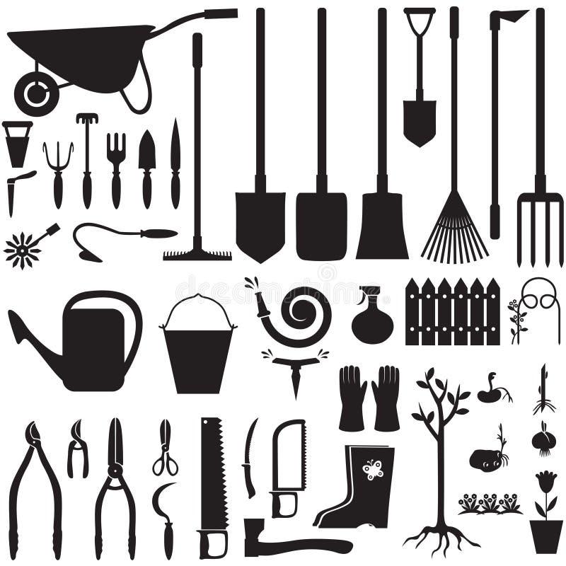 Grupo do equipamento de jardim