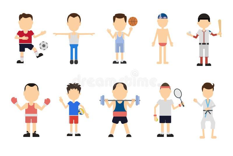 Grupo do esporte ilustração do vetor