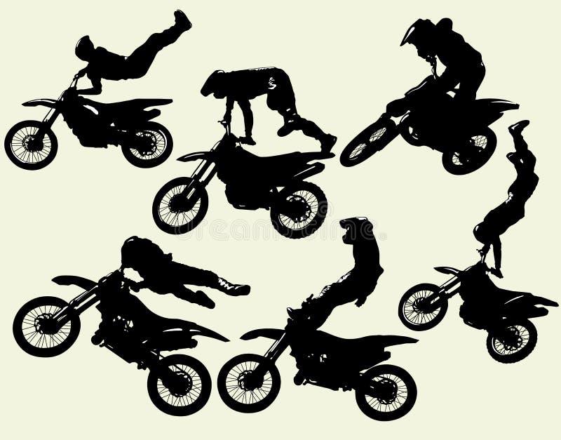 Grupo do estilo livre de Moto ilustração do vetor