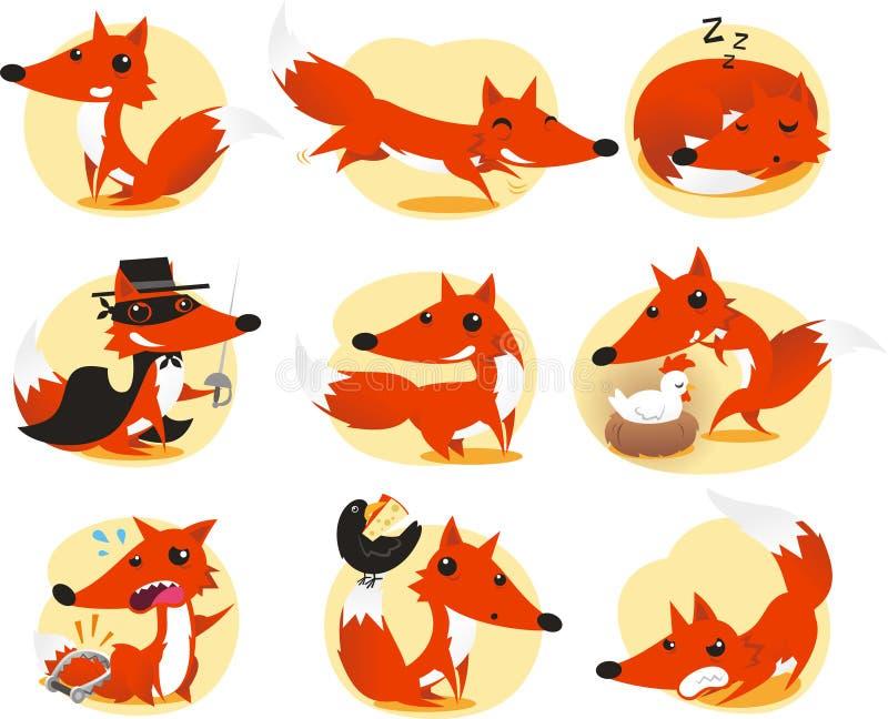 Grupo do Fox ilustração royalty free