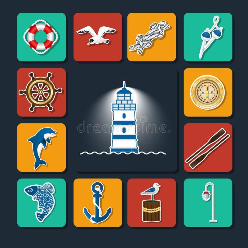 Grupo do fuzileiro naval de objects-01 ilustração royalty free
