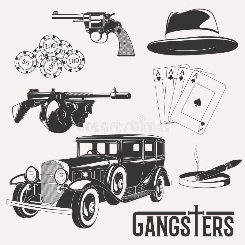 Grupo do gângster do vintage ilustração royalty free