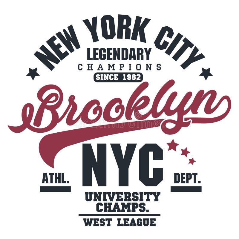 Grupo do gráfico do selo do t-shirt Emblema da tipografia do desgaste do esporte ilustração do vetor