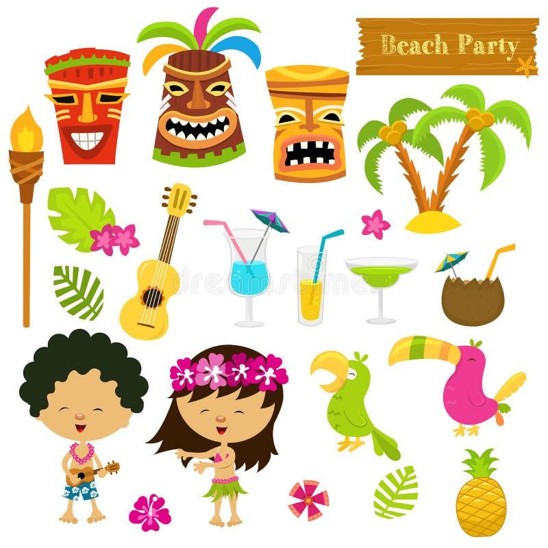 Grupo do Hawaiian ilustração royalty free