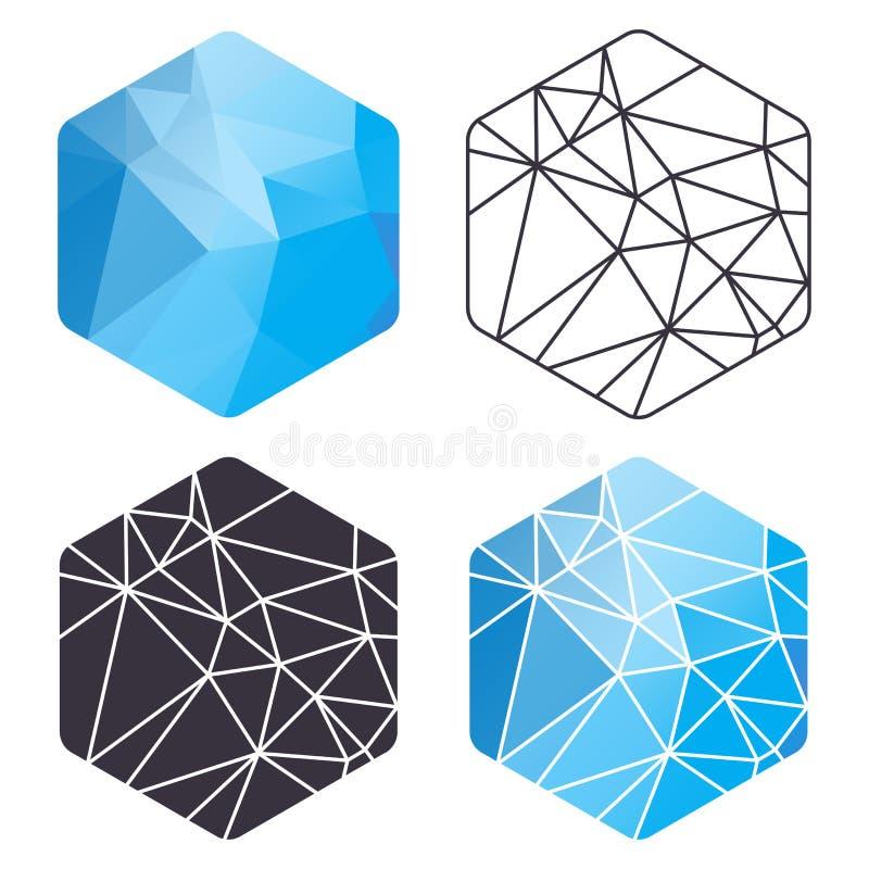 Grupo do hexágono do triângulo ilustração do vetor