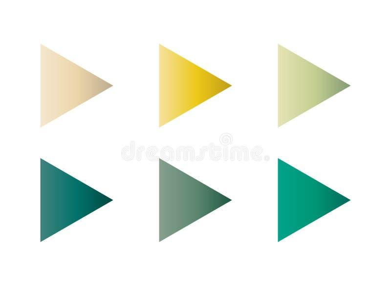 Grupo do inclinação dos botões do jogo ilustração do vetor