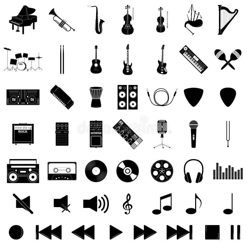 Grupo do instrumento musical ilustração royalty free