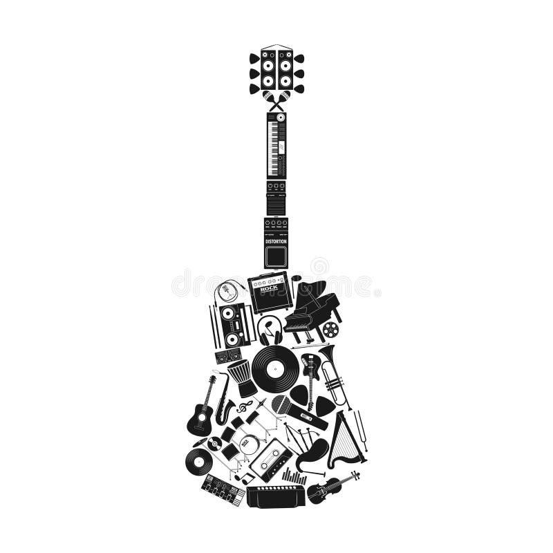 Grupo do instrumento musical ilustração do vetor