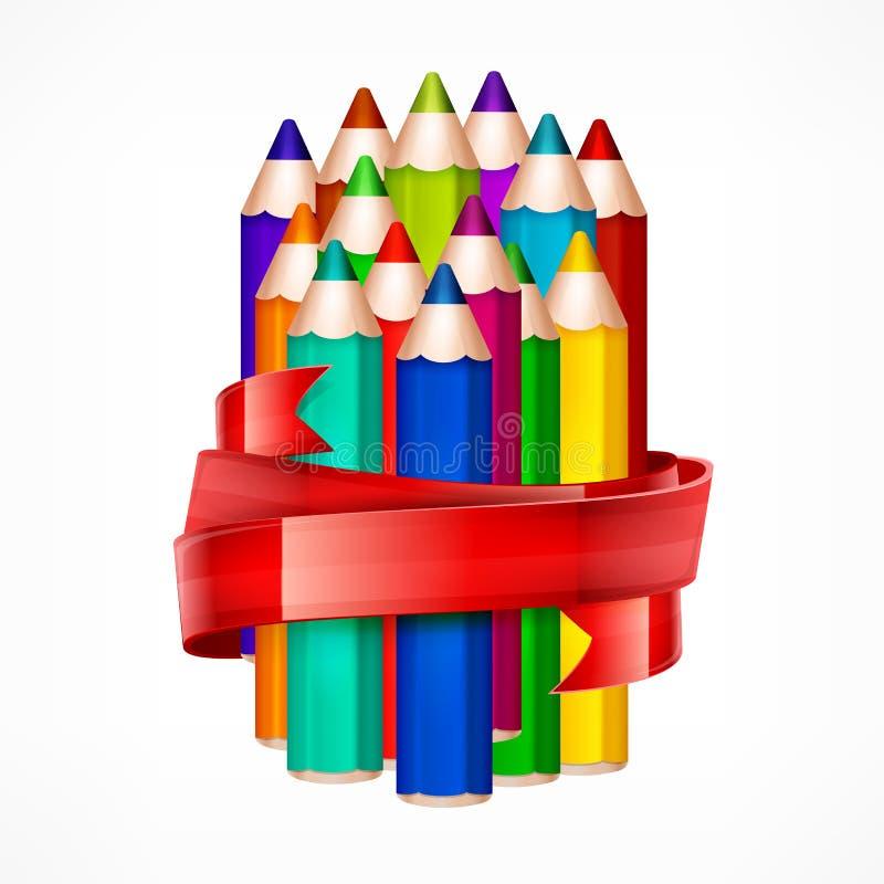 Grupo do lápis Fita ilustração royalty free