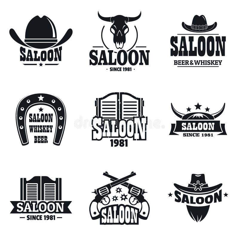 Grupo do logotipo do bar, estilo simples ilustração royalty free